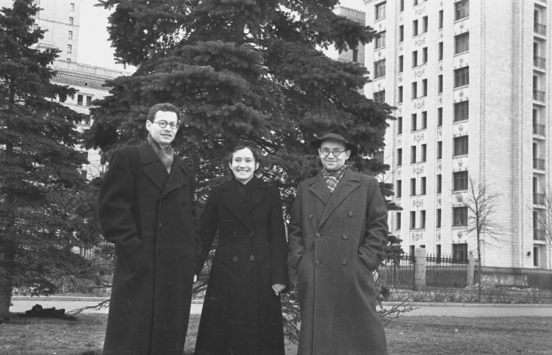 Р.Л. Фрум-Кетков, Н.М. Ершова, А.П. Ершов, 1956 г.