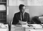 А.П. Ершов - заведующий отделом программирования ВЦ СО АН СССР в своём рабочем кабинете. 1969 г.