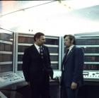 Г.И. Марчук и Н.В. Кульков в машинном зале БЭСМ-6