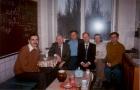 С.Б. Покровский, В.И. Константинов, В.Э. Малышкин, И.В. Поттосин, Г.Г. Степанов, В.К. Сабельфельд в кофе-клубе, 1994 г.