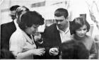 Р. Мишкович, В. Минаев, С. Кожухина, 1973 г. Празднование 15-летия ОП
